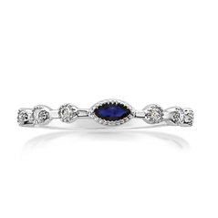 MY STORY Sapphire & Diamond Stackable Ring