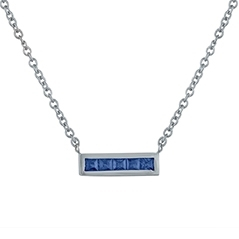 MY STORY Sapphire Bar Necklace