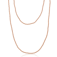 OFFICINA BERNARDI Silver & Rose Gold Beaded Necklace