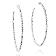 OFFICINA BERNARDI Silver Beaded Hoop Earrings