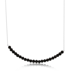 Onyx Beaded Bar Necklace
