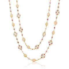 Opal & Pink Sapphire Necklace