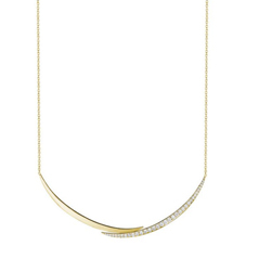 PENNY PREVILLE Crescent Diamond Necklace