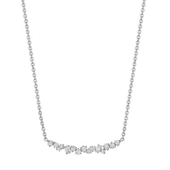 PENNY PREVILLE Curved Diamond Bar Necklace