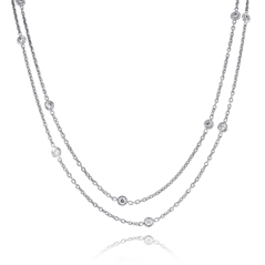 PENNY PREVILLE Diamond Chain Necklace