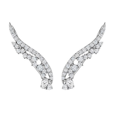 PENNY PREVILLE Diamond Cluster Ear Climbers