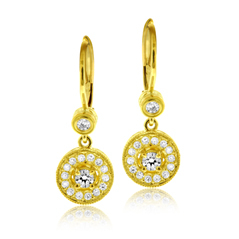 PENNY PREVILLE Diamond Dangle Earrings