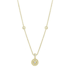 PENNY PREVILLE Diamond Engraved Necklace
