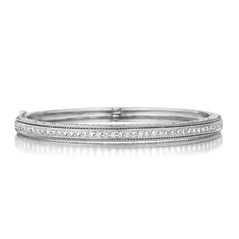 PENNY PREVILLE Engraved Diamond Bangle