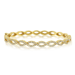 PENNY PREVILLE Entwined Diamond Bangle