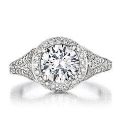 PENNY PREVILLE Halo Diamond Engagement Ring