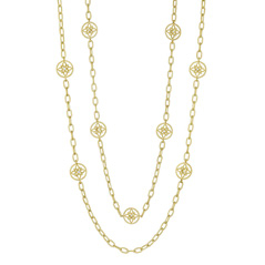 PENNY PREVILLE Lotus Blossom Signature Diamond Chain