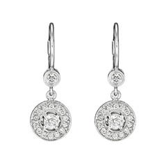 Penny Preville Round Diamond Dangle Earrings Photo