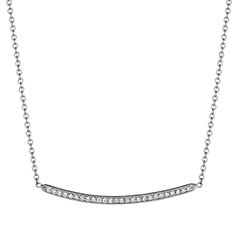 PENNY PREVILLE Thin Pave Diamond Bar Necklace