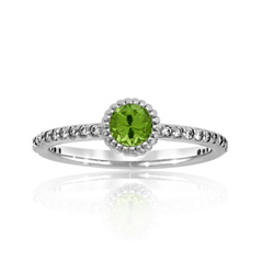 Peridot Stack Ring
