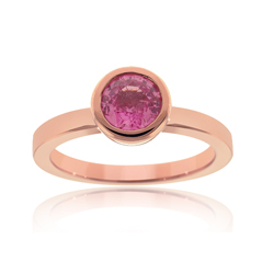 Pink Sapphire & Diamond Stack Ring