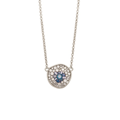 PLEVE Blue Burst Diamond Necklace