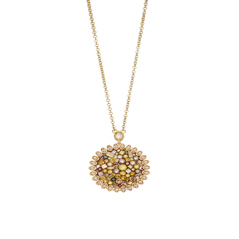 PLEVE Cinnamon Colored Diamond Necklace