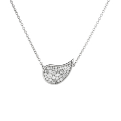 PLEVE Ice Baby Paisley Diamond Necklace