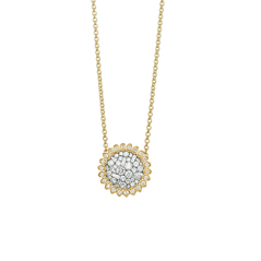 PLEVE Ice Mini Flower Diamond Necklace