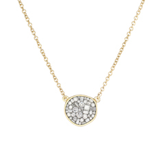 PLEVE Ice Mini Pebble Diamond Necklace