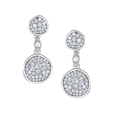 PLEVE Pebble Ice Diamond Earrings