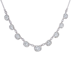 PLEVE Pebble Ice Diamond Necklace
