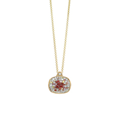 PLEVE Raspberry Galaxy Diamond Pendant