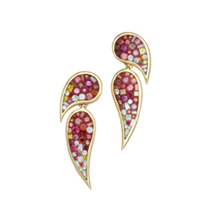 PLEVE Raspberry Ombre Scorpio Diamond Earrings