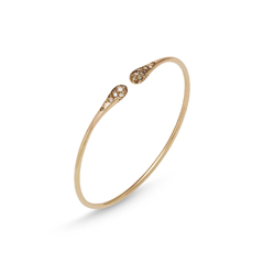 PONTE VECCHIO Iside 18K Gold Diamond Stacking Bangle