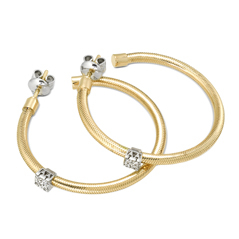 PONTE VECCHIO Nobile Diamond Hoop Earrings