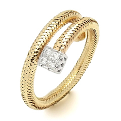 PONTE VECCHIO Nobile Twist Single Wrap Ring