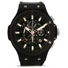 Pre-Owned Hublot Big Bang Aero Black Magic Skeleton Watch