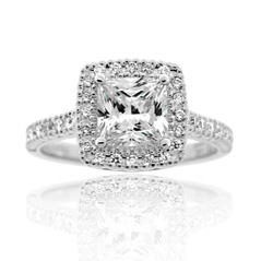 PRECISION SET Diamond Engagement Ring