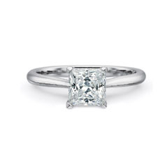 PRECISION SET Diamond Solitaire Engagement Ring