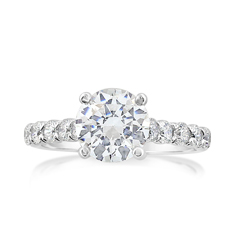 PRECISION SET Dimaond Engagement Ring