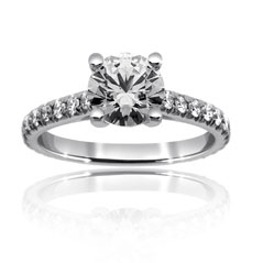 PRECISION SET New Aire Diamond Engagement Ring