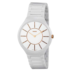 RADO White True Thinline Jubile Watch