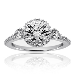RITANI Bella Vita Three Stone Diamond Engagement Ring