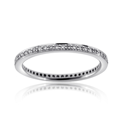 RITANI Endless Love Diamond Eternity Wedding Band