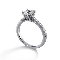 RITANI French Set Diamond Engagement Ring