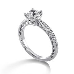 RITANI Lattice Diamond Engagement Ring