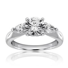 RITANI Royal Three Stone Diamond Engagement Ring