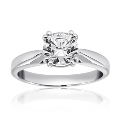 RITANI Tulip Airline Solitaire Engagement Ring