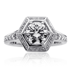 RITANI Vintage Diamond Engagement Ring