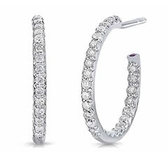 ROBERTO COIN .52 Carat Diamond Inside-Out Hoop Earrings