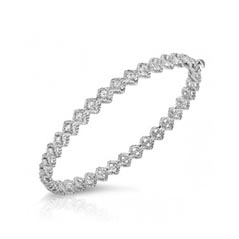 ROBERTO COIN Barocco Diamond Bangle