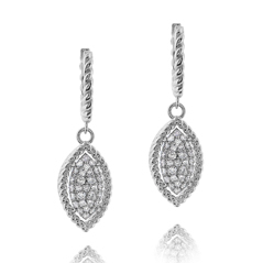ROBERTO COIN Barocco Diamond Earrings