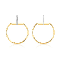 ROBERTO COIN Classic Parisienne Diamond Earrings