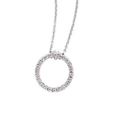 ROBERTO COIN Diamond Circle of Life Necklace